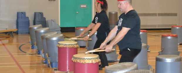 Last week on Wednesday and Friday all day students were treated to a Taiko Drumming workshop.